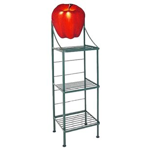 Grace Collection Apple Wrought Iron Baker's Rack