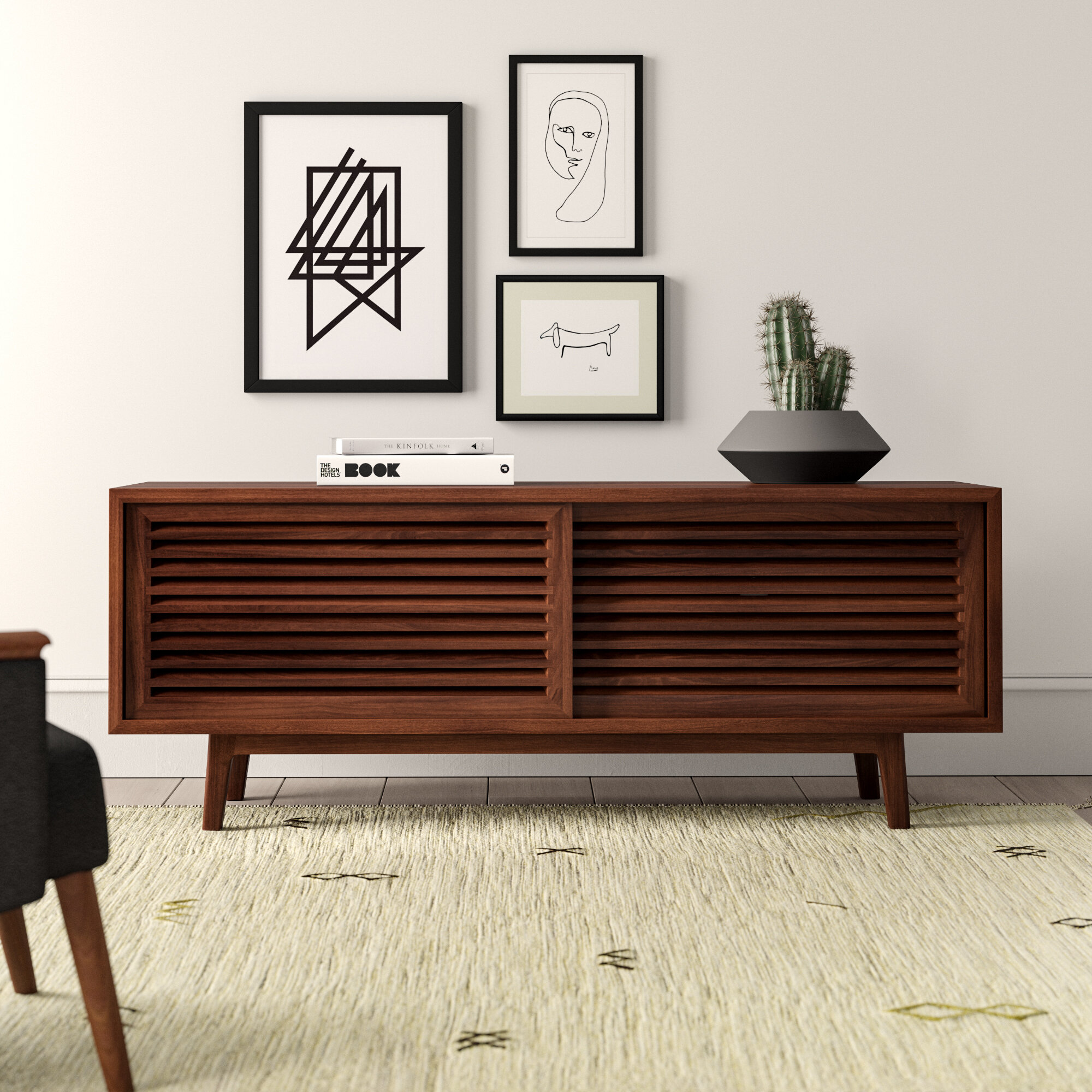 Kalama Solid Wood Tv Stand For Tvs Up To 70 Inches