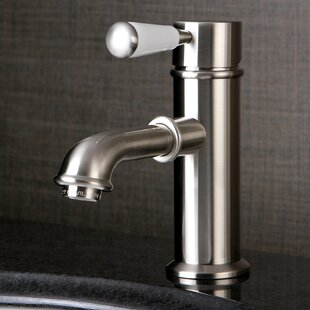Paris Single Hole Lavatory Faucet with Brass Pop-Up Drain By Kingston Brass