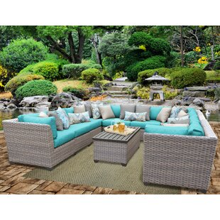 Meeks 11 Piece Sectional Seating Group with Cushions