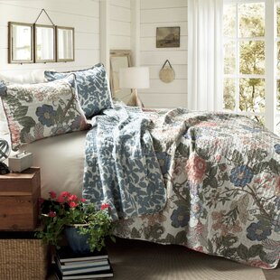 Granborough Cotton 3 Piece Reversible Quilt Set