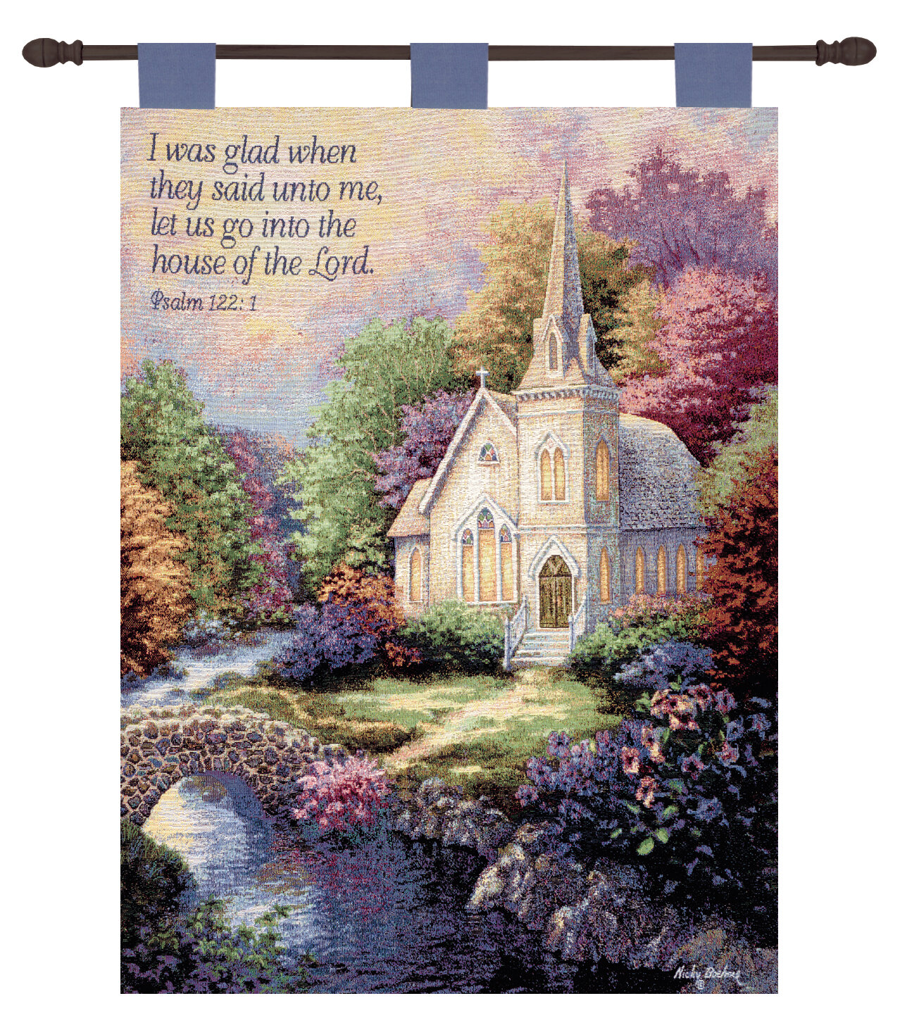 Manual Woodworkers Weavers Church In The Country Verse Wall Hanging Wayfair