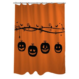 Pumpkins On a Branch Single Shower Curtain
