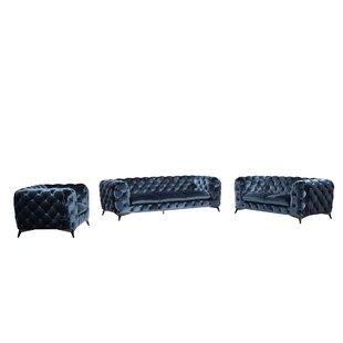 Azu 3 Piece Living Room Set