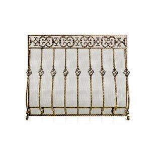 Tuscany Single Panel Steel Fireplace Screen By Ornamental Designs