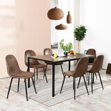 Spataro 7 - Piece Breakfast Nook Dining Set (Set of 7) by 17 Stories