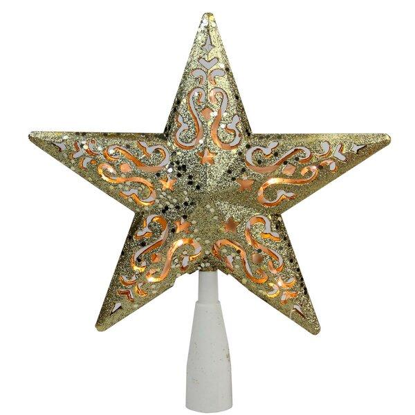 Engraved lead crystal Angel Hold Stars on LED white light base