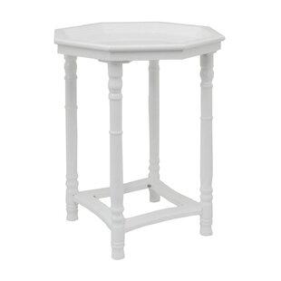 Alcott Hill Indira Hexagonal Wooden End Table
