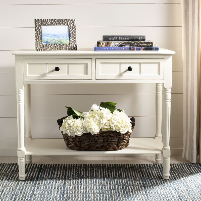 "Regan 35.8"" Solid Wood Console Table. #consoletables #entryway #frenchcountry #smallspaces #furniture"