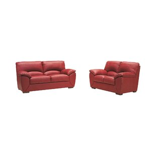 Fuego 2 Piece Leather Sofa Set By Ebern Designs