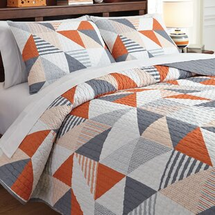 Cearbhall 3 Piece Reversible Coverlet Set