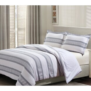 Kortright Cotton 3 Piece Reversible Duvet Cover Set by Longshore Tides Amazing