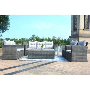 Godfrey 6 Piece Sofa Seating Group with Cushions