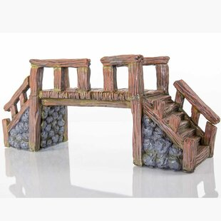 Bergan Pet Products Decorative Wood Bridge Statue