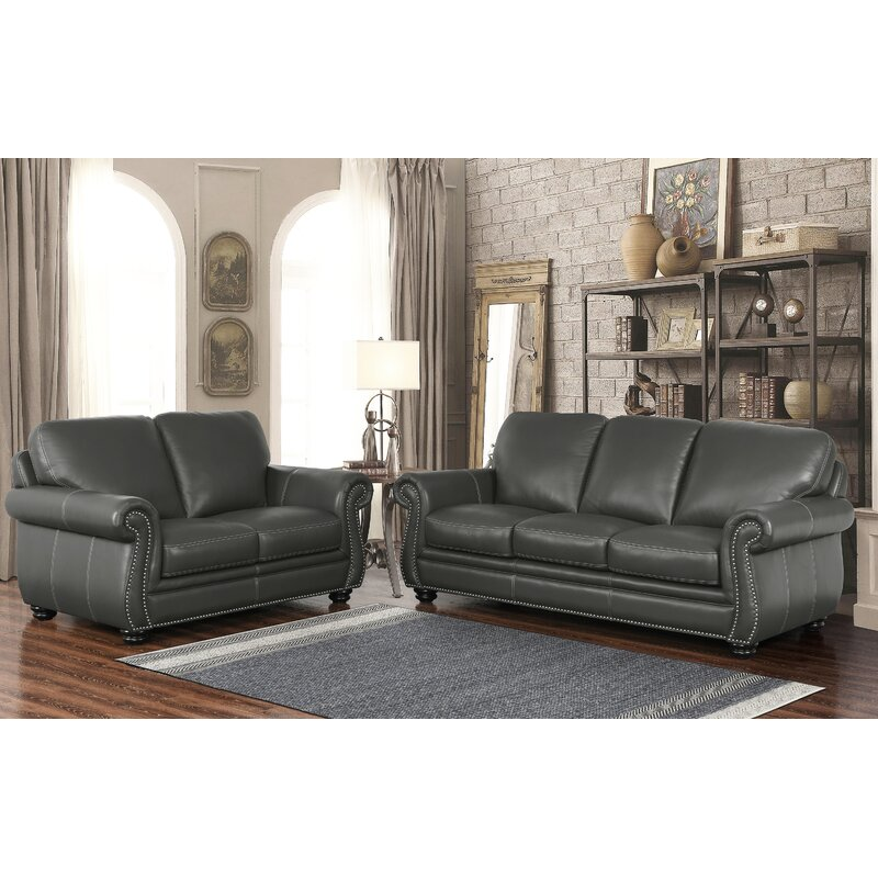 Fairdale 2 Piece Leather Living Room Set Amp Reviews Birch