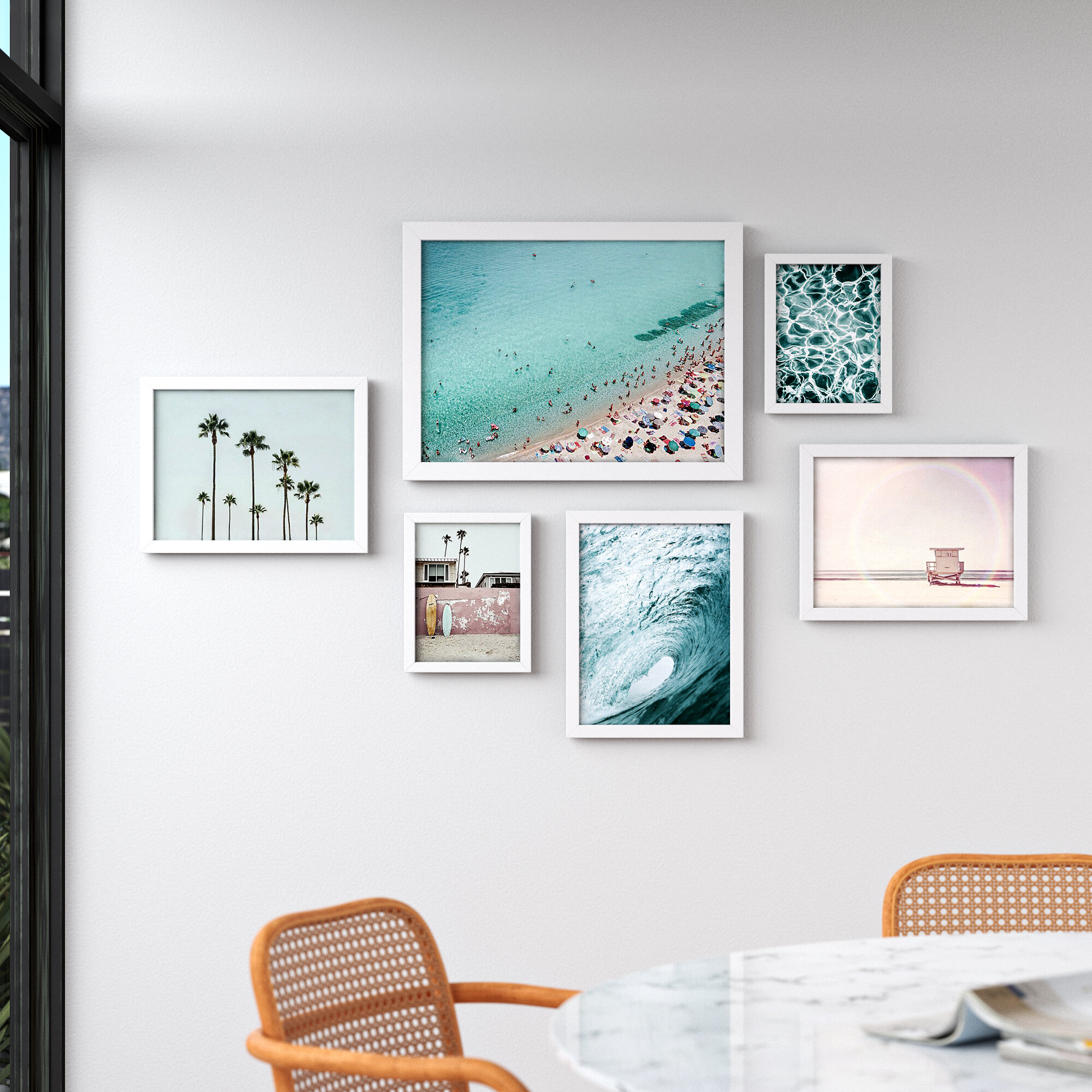 Allmodern Beach By Sisi And Seb 6 Piece Picture Frame Photographic Print Set Reviews Wayfair
