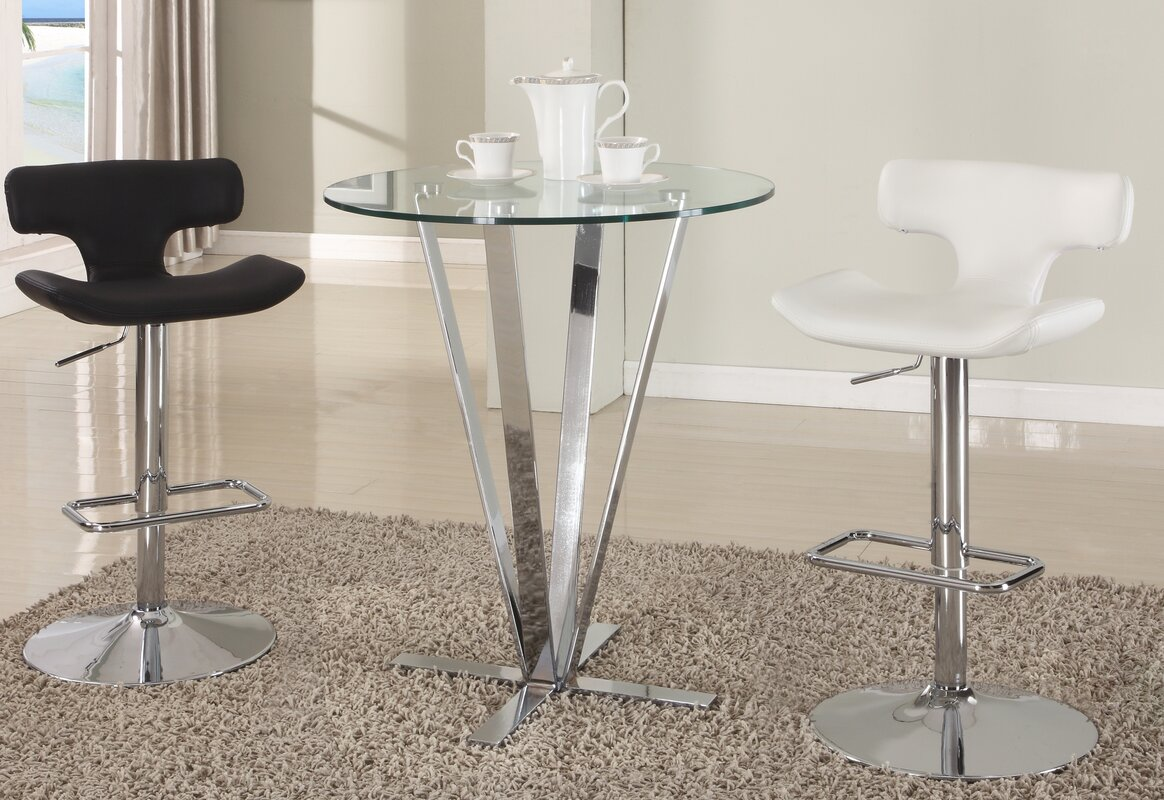 100 bar table and stool set amerihome retro style chrome ba