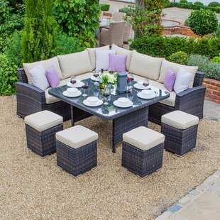 Marcano 9 Seater Dining Set With Cushions Image