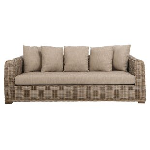 Compare Vara Wicker Sofa by Bay Isle Home Reviews (2019) & Buyer's Guide