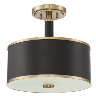 Breakwater Bay Zheng 2-Light Semi Flush Mount