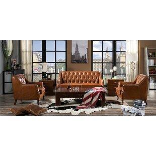 Rankin 3 Piece Leather Sofa Set By Williston Forge
