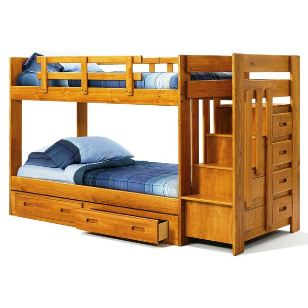 Twin Bunk Beds With Storage Part - 20: Chelsea Home Twin Bunk Bed With Storage U0026 Reviews | Wayfair