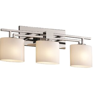 Kramer Aero 3 Light Cylinder w/ Flat Rim Bath Vanity Light