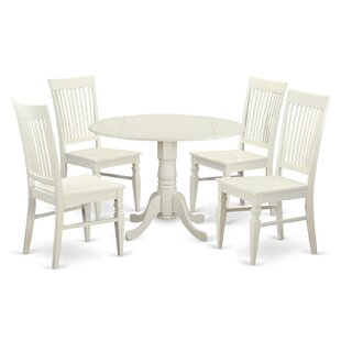 Spruill 5 Piece Drop Leaf Wood Dining Set by August Grove