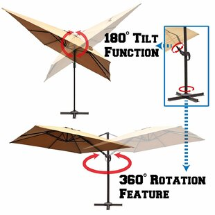 Brayden Studio Carmouche 10' Square Cantilever Umbrella