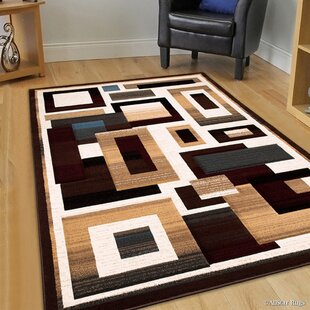 Reviews Brown Area Rug By AllStar Rugs