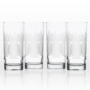 31e3ccaacee Navi Pineapple 15 oz. Glass Highball Glasses (Set of 4)