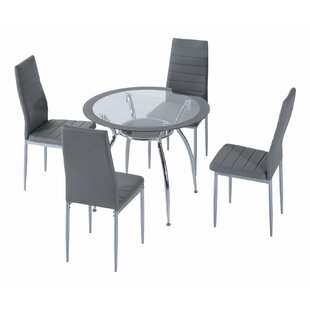 Benny Dining Set With 4 Chairs By Wade Logan
