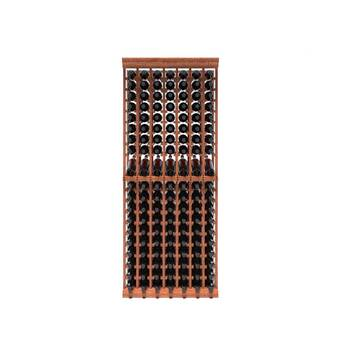 Rebrilliant Lurmont 120 Bottle Solid Wood Floor Wine Bottle Rack Wayfair