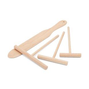 4 Piece Crepe Wood Utensil Set
