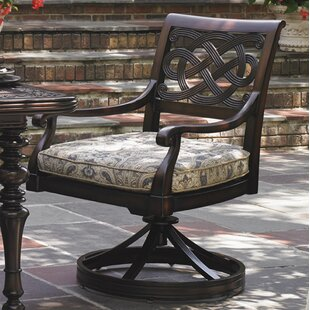 Royal Kahala Swivel Patio Dining Chair with Cushion