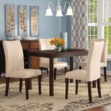 Evendale 5 Piece Solid Wood Dining Set by Red Barrel Studio®