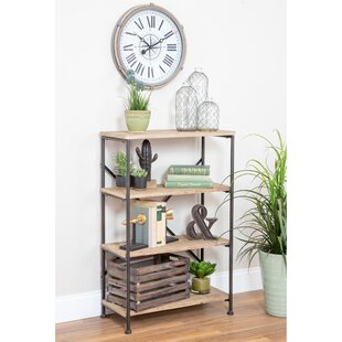 Vezina 4-Shelf Industrial Etagere Bookcase