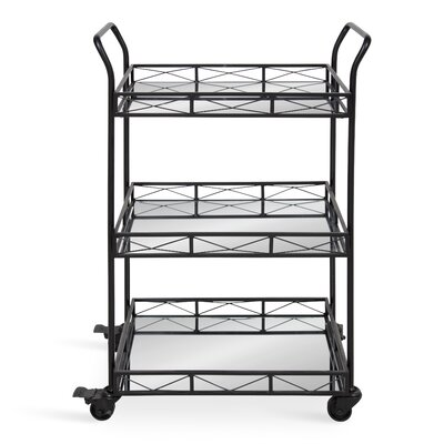 Bungalow Rose Menachem Metal 3 Tiered Tray Bar Cart