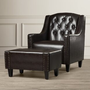 Chris Leather Club Chair And Ottoman
