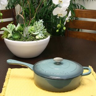Artisan 3.5 Qt. Enameled Saute Pan with Lid