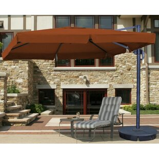 Santorini II 116.2' X 9.84' Square Cantilever Sunbrella Umbrella by Blue Wave Products