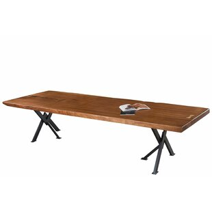 17 Stories Apollo Solid Wood Dining Table