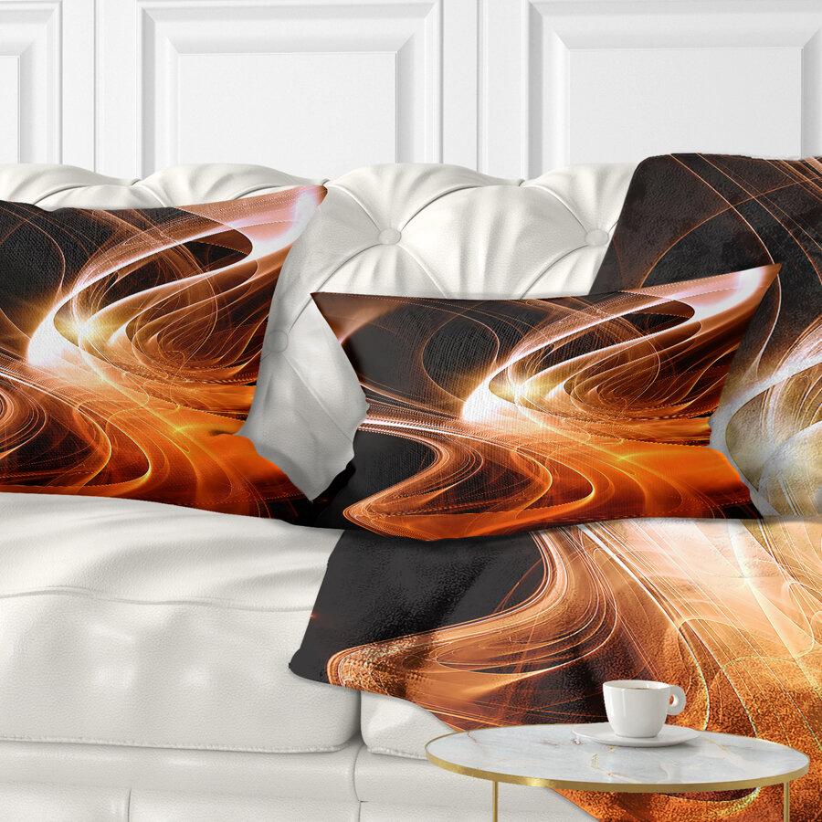 East Urban Home Abstract 3d Shaped Fractal Design Lumbar Pillow Wayfair