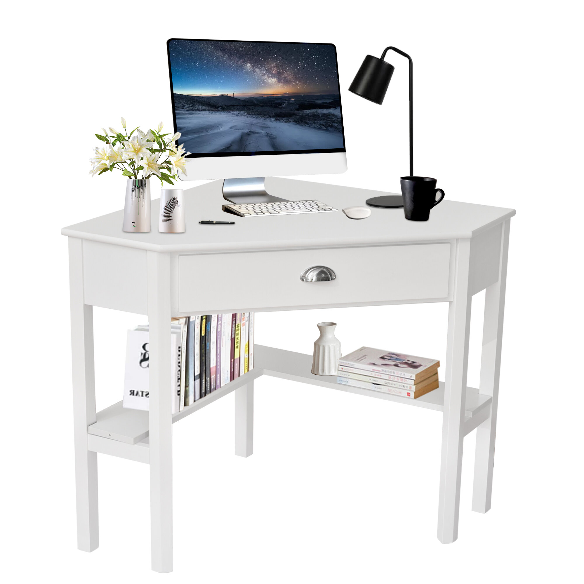 White Breakwater Bay Desks You Ll Love In 2021 Wayfair