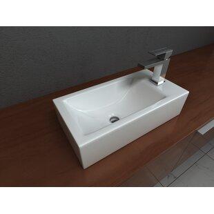 Vitreous China Rectangular Vessel Bathroom Sink ByCantrio Koncepts