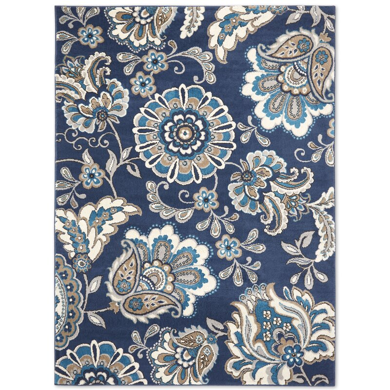 Albion Floral Blue Area Rug Amp Reviews Birch Lane