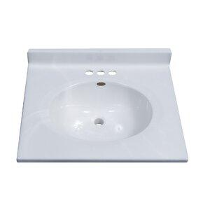 Classic Center Oval Bowl 25 Single Bathroom Vanity Top