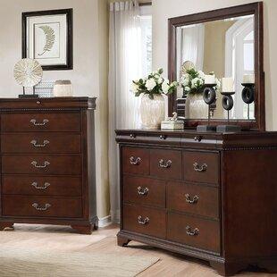 Fenwick Landing 3 Drawer Double Dresser with Mirror