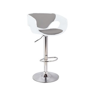 Kimbro Adjustable Height Swivel Bar Stool by Orren Ellis