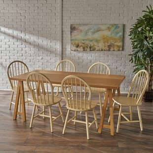Sims 7 Piece Dining Set August Grove